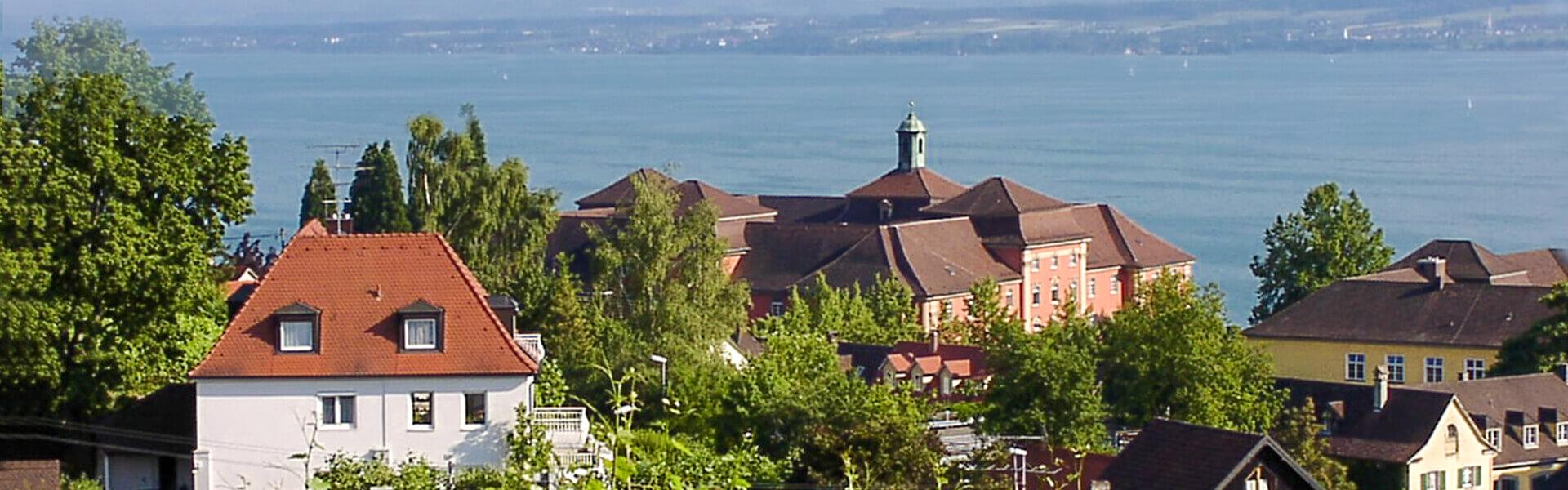 Gästehaus Schiff in Meersburg: Blick auf den Bodensee