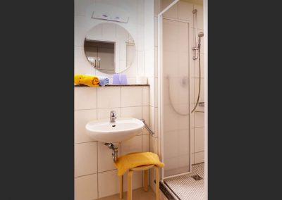 WC und Dusche zu Zimmer 1