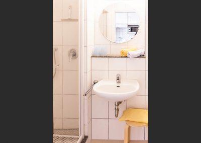 WC und Dusche zu Zimmer 2