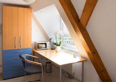 Schreibplatz mit Blick auf den Bodensee