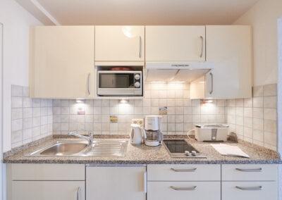 Die Küche zu Zimmer 2